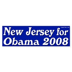 New Jersey for Obama 2008 bumper sticker