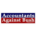 Accountants Against Bush (sticker)