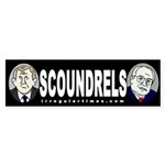 Bush and Cheney: Scoundrels (sticker)