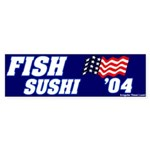 Mock Fish Sushi Bumper Sticker