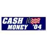 Mocking Cash Money Bumper Sticker