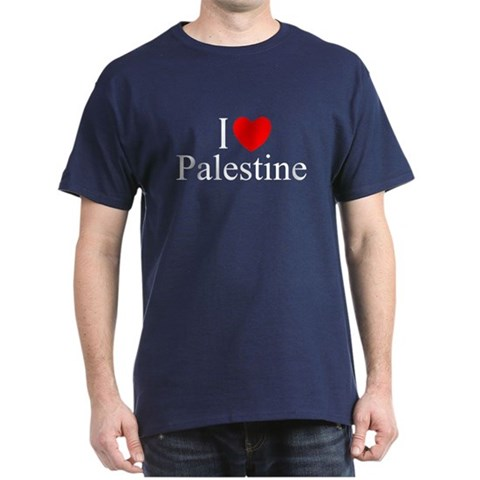 Product Image of I Love Palestine Dark T-Shirt