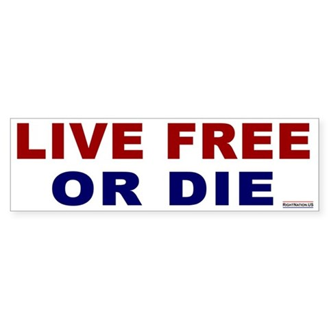 : Live Free or Die Military Bumper Sticker by CafePress