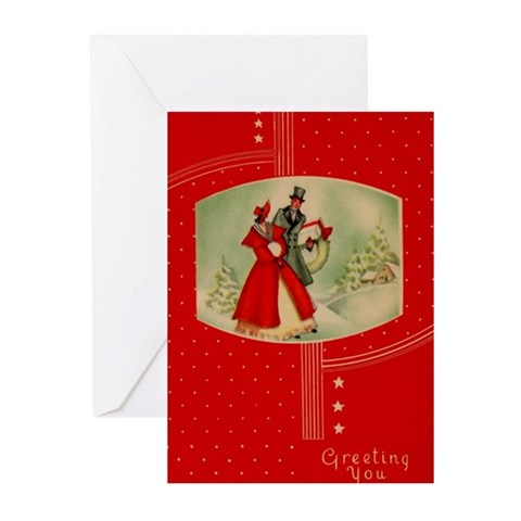 Vintage Christmas Vintage Greeting Cards Pk of 10 by CafePress