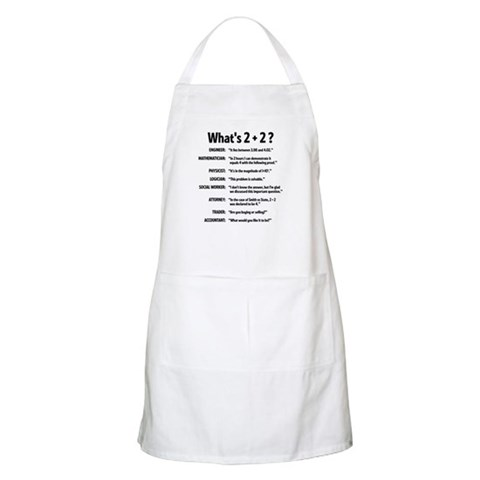 2 plus 2 BBQ  Funny Apron by CafePress