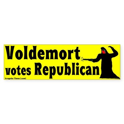 Voldemort Votes Republican Bumpersticker