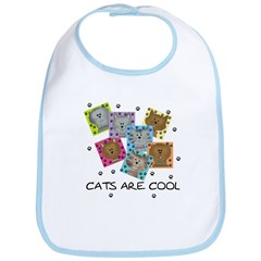 Cats Are Cool Bib