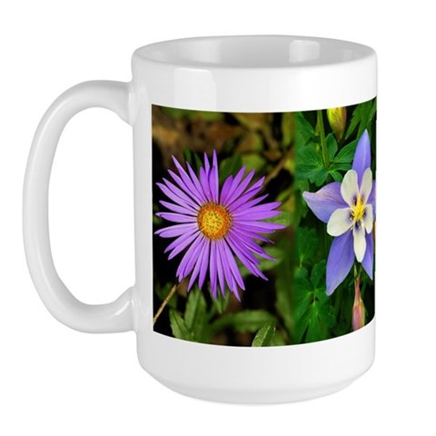 - 3 flowers Flower Large Mug by CafePress
