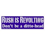 Rush is Revolting Bumper Sticker