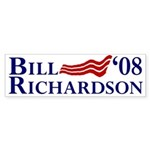 Bill Richardson '08 Flag Sticker (Bumper)