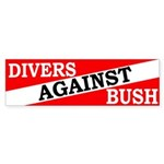 Divers Against Bush Sticker (Bumper)