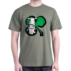 Irish Cow Shamrock Dark T-Shirt