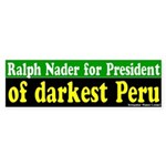 Ralph Nader for President Bumper Sticker