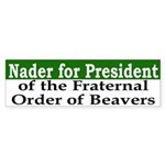 Nader for President (bumper sticker)
