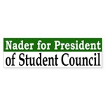 Ralph Nader for President (bumper sticker)