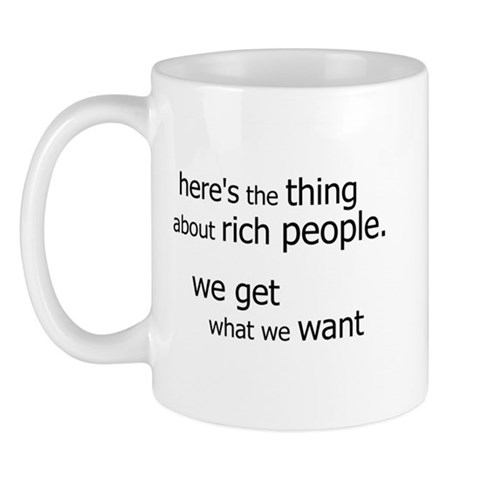 Rich People Get... Star trek Mug