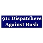 911 Dispatchers Against Bush (sticker)