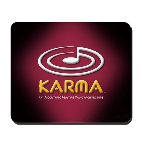 , 3D logo, maroon Lab Mousepad by CafePress