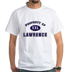 Property of lawrence White T-Shirt   