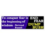Bertrand Russell on Fear Bumper Sticker