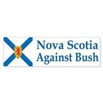 Nova Scotia Against Bush (bumper sticker)