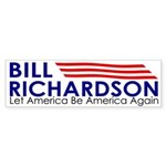 Bill Richardson: Let America Be (bumper sticker)