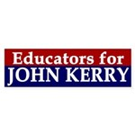 Educators for John Kerry (bumper sticker)