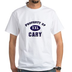 Property of cary White T-Shirt