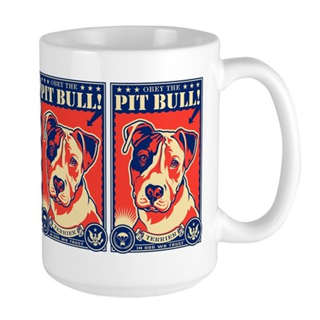 Obey the Pit Bull! USA Large Mug