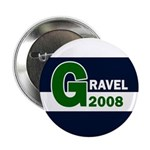 G: Gravel 2008 pinback campaign button