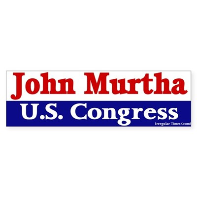 John Murtha for Congress Bumper Sticker