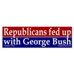 Republicans fed up with George Bush
