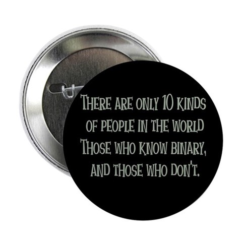 10 kinds of people Button Funny 2.25 Button by CafePress