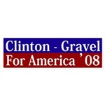 Clinton-Gravel 2008 bumper sticker