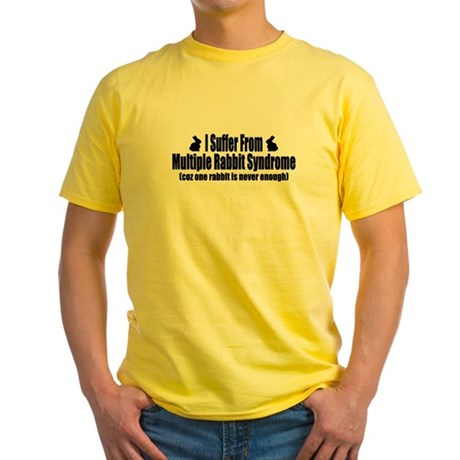 Multiple Rabbits Yellow T-Shirt