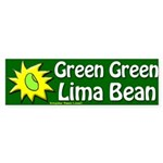 Green Green Lima Bean Bumper Sticker