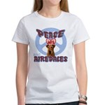 PEACE LOVE and AIREDALES Women's T-Shirt