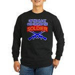 8th Day God Created The Soldier Long Sleeve Dark T