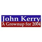 John Kerry: A Grownup for 2004 (sticker)