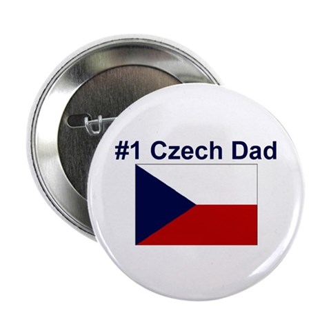 1 Czech Dad  Love 2.25 Button by CafePress