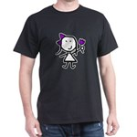 Girl & Purple Flower T-Shirt