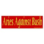 Aries Against Bush Sticker (Bumper)