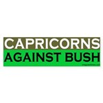 Capricorns Against Bush Sticker (Bumper)