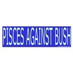 Pisces Against Bush Sticker (Bumper)