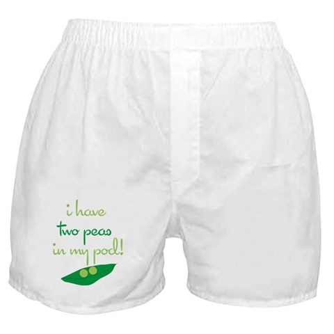 2 Peas in My Pod  Twins Boxer Shorts by CafePress