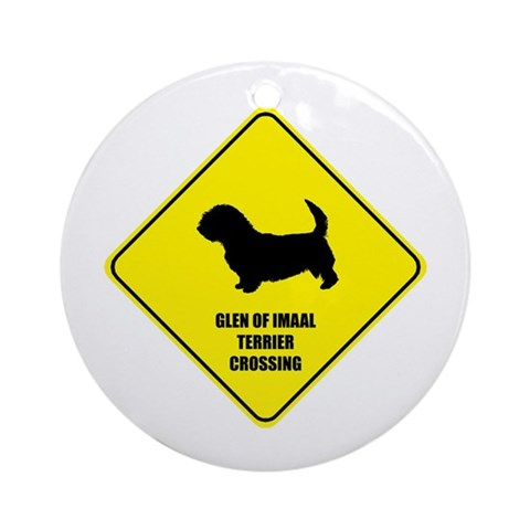 Terrier Crossing Ornament Round Pets Round Ornament by CafePress