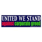 Anti Corporate Greed Sticker (Bumper)