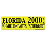 "Florida Was ""Scrubbed"" Sticker (Bumper)"