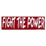 Fight The Power Sticker (Bumper)