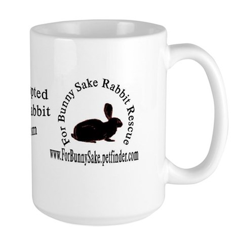 - Adopted Bunny Large Mug by CafePress